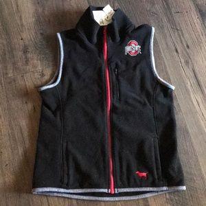 NWT women's Ohio State Buckeyes zip up vest